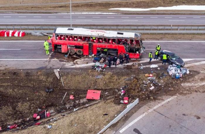 Five people killed in Ukrainian bus crash in Poland