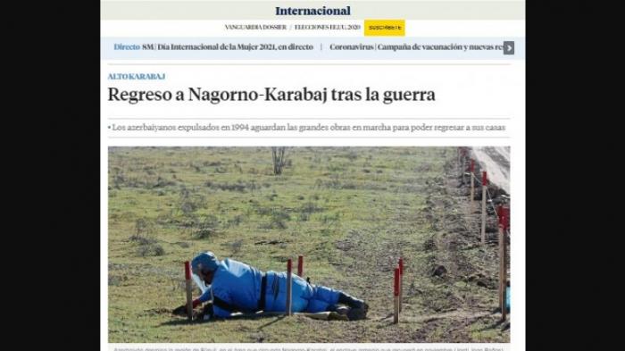 """Müharibədən sonra Qarabağa qayıdış -  """"La Vanguardia"""" yazır"""