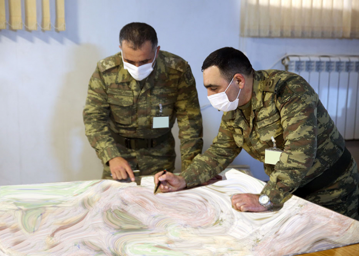 Tasks are fulfilled on the maps in the course of the exercises -   VIDEO