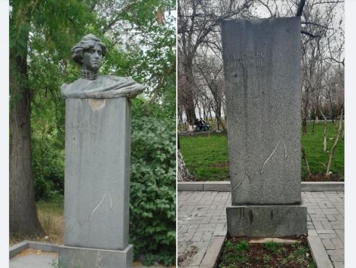 Ermənistanda daha bir heykəl oğurlandı