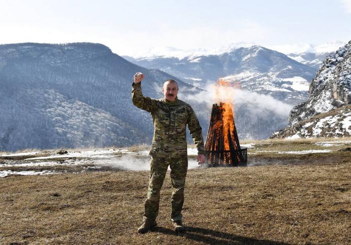 Azeri president marks Nowruz in retaken cultural city -  The Washington Post