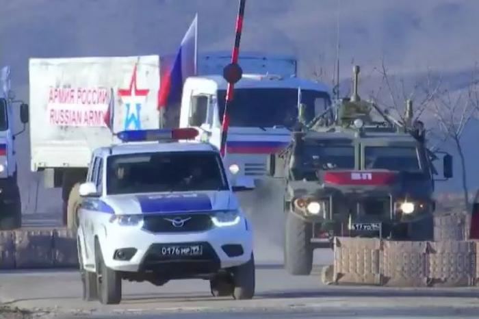 Kəlbəcərə 80 ton humanitar yük çatdırılıb -  Rusiya MN