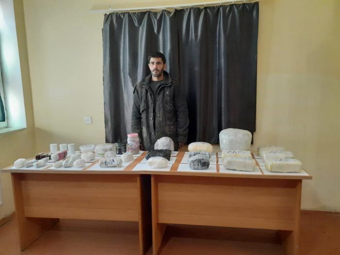 İrandan Azərbaycana narkotik gətirilməsinin qarşısı alındı -  FOTO