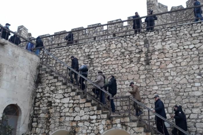 Media representatives and NGOs, bloggers and public activists visit the Shahbulag fortress