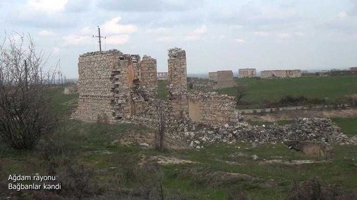 لقطات من قرية باغبانلار في منطقة أغدام -   فيديو