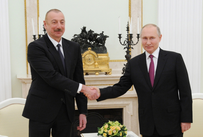 İlham Əliyevlə Putin arasında  -