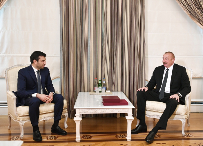 President Aliyev receives Turkey's Baykar Makina CTO Selcuk Bayraktar - UPDATED