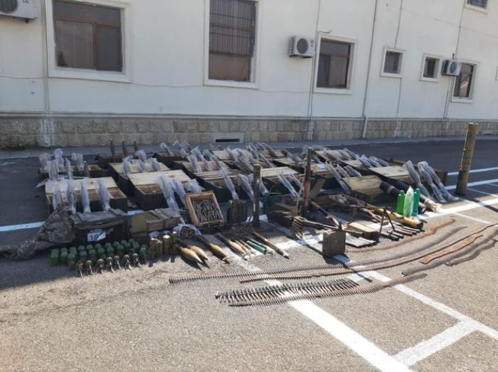 Azerbaijani police find Armenian munitionsin Fuzuli district