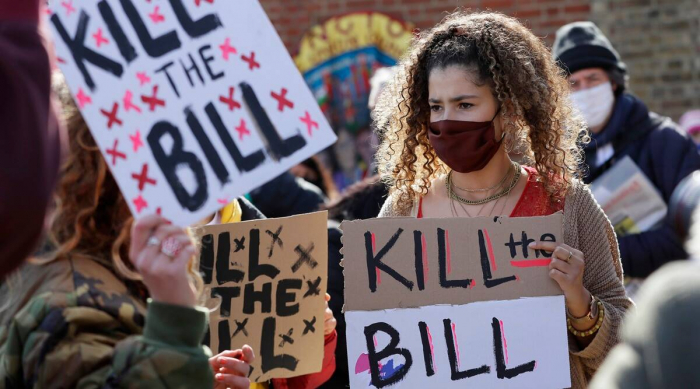 Demonstrations planned across Britain against new protest law