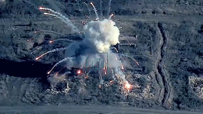Armenian army's targets destroyed by Azerbaijani Air Force during Patriotic War –   VIDEO
