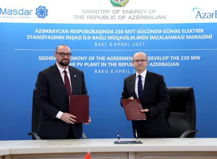 Azerbaijan, Masdar company ink agreements on solar power plant project