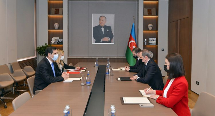 Canciller azerbaiyano recibe al embajador saliente de Turquía