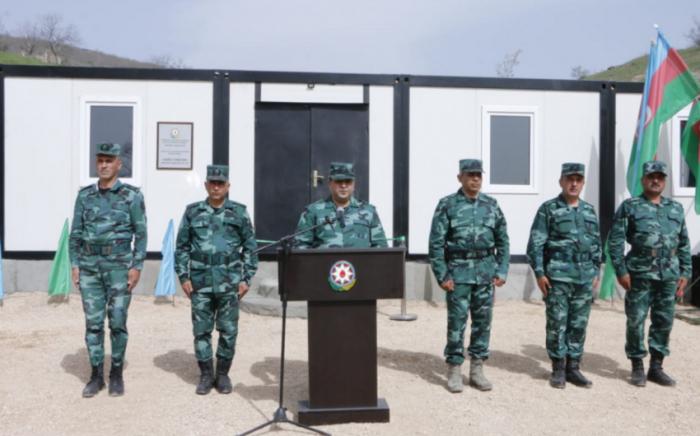 Se pone en funcionamiento una nueva unidad militar en Zangilan - FOTOS