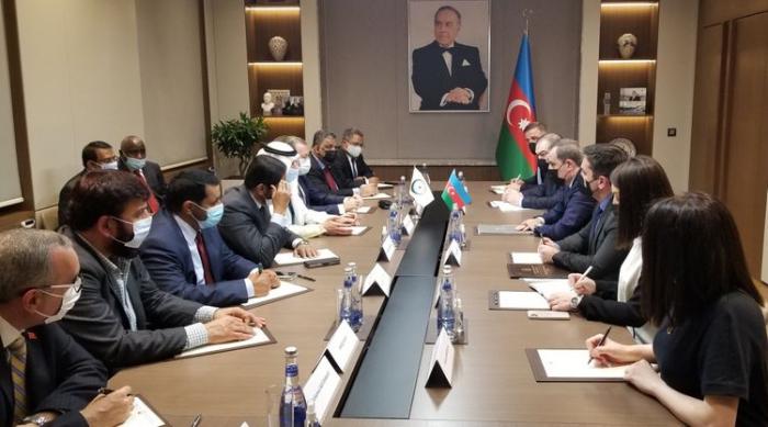 Djeyhoun Baïramov rencontre le secrétaire général de l