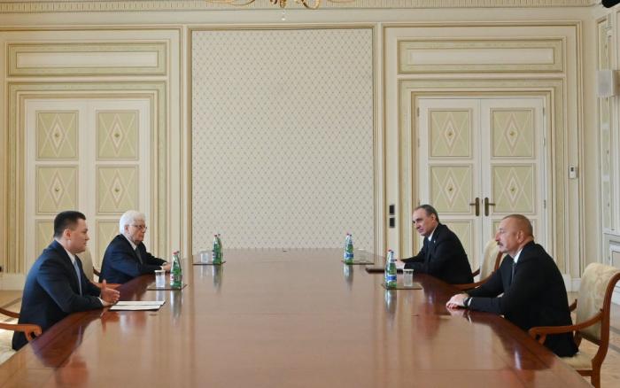 Presidente Ilham Aliyev recibe al Fiscal General de Rusia