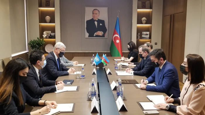 Azerbaijani FM, UNGA president meets in Baku
