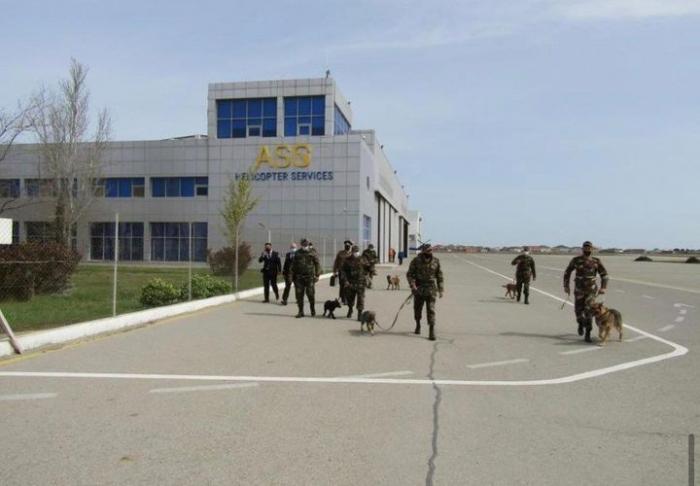 Zabrat Hava Limanı ərazisində təlim keçirildi -    FOTO