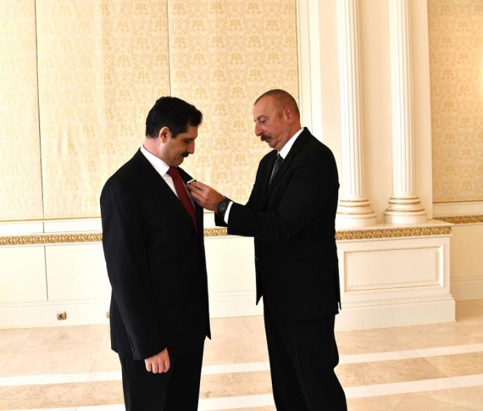 "Azerbaijani president awards Turkish ambassador ""Dostlug"" Order"
