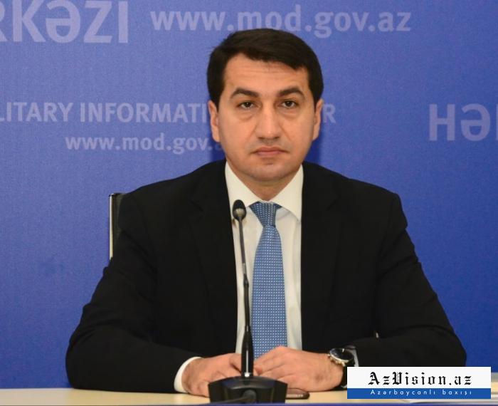 """""""Agdam es un claro ejemplo de Urbicidio"""" -   Hikmet Hajiyev"""