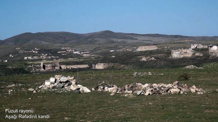 El Ministerio de Defensa emite imágenes de la aldea Ashagi Rafadinli de Fuzuli