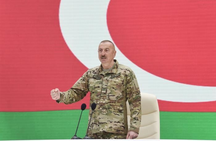 """""""Söz vermişdim ki, ərazi bütövlüyünü qoruyacağam, bu sözə əməl etdim"""" -    Prezident"""