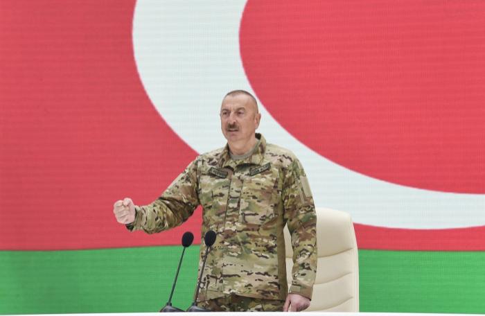 """إلهام علييف:  """"لقد وعدت بحماية وحدة الاراضي ، وفايت بهذا الوعد"""""""