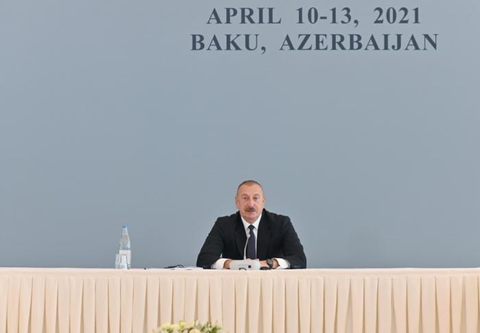 """Ilham Aliyev:   """"Sie haben alles getan, um zu verhindern, dass der Konflikt gelöst wird"""""""
