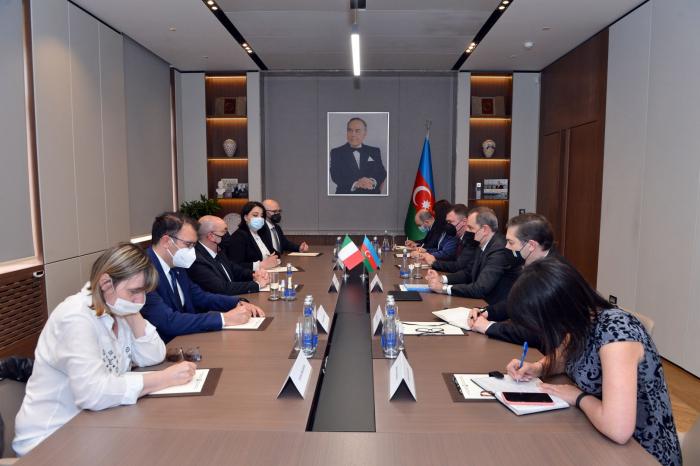 Azerbaijani FM meets delegation of Italian Senate
