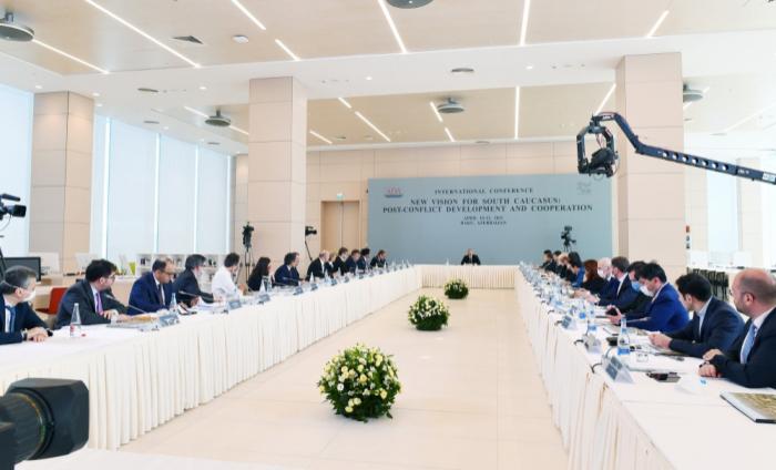 """Ilham Aliyev:   """"Unsere Zusammenarbeit in der Region ist ein internationaler Erfolg"""""""