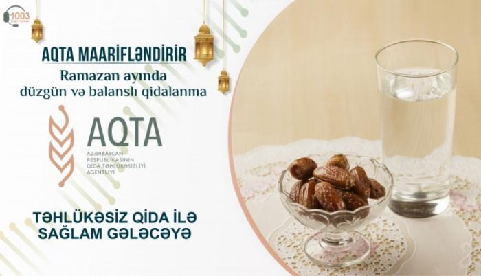 Ramazan ayında düzgün və balanslı qidalanma