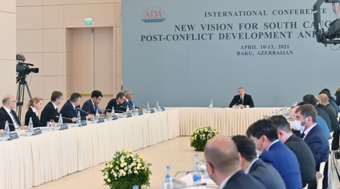 President Aliyev talks about building relations with Armenia in post-conflict process