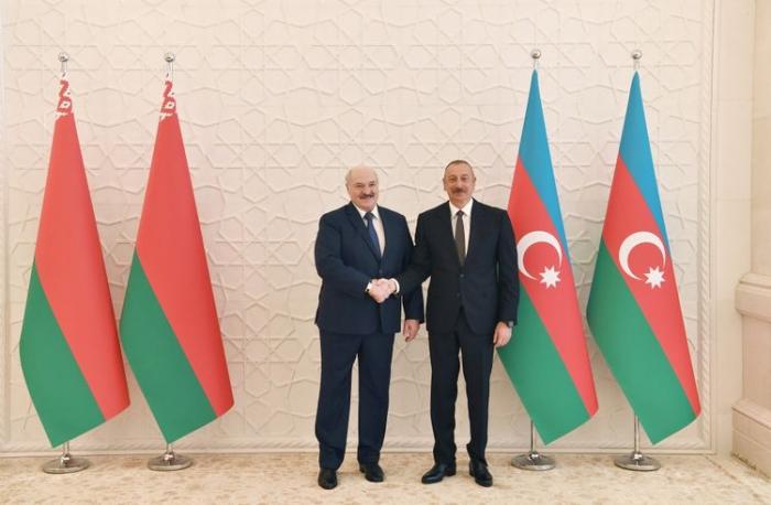 La rencontre entre Ilham Aliyev etAlexandre Loukachenkos