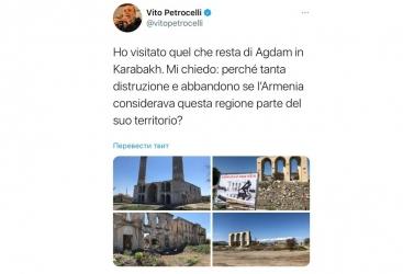 Senador italiano:   ¿Por qué Armenia destruyó Aghdam si lo consideraba suyo?