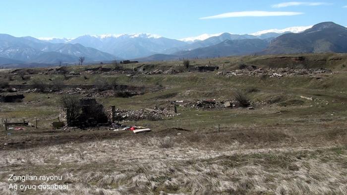 Ag oyug Siedlung des aserbaidschanischen Bezirks Zangilan -   VIDEO