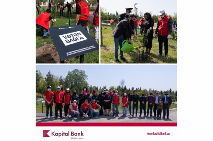 """""""Kapital Bank"""" və """"Qırmızı Ürəklər"""" şəhidlərin xatirəsinə ağac əkiblər"""
