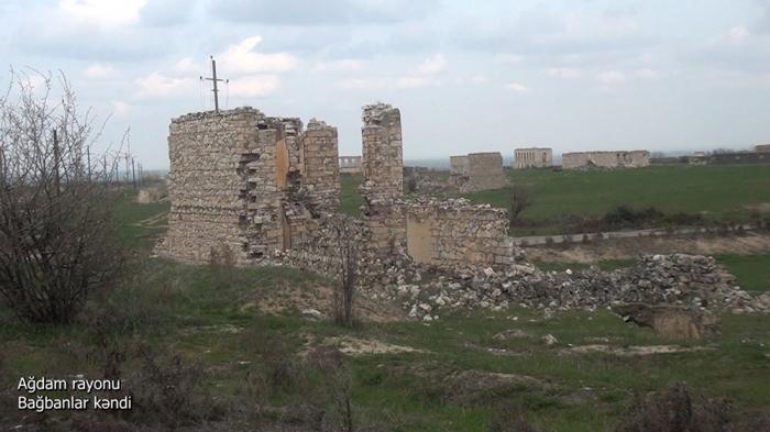 Le ministère de la Défense diffuse une   vidéo   du village de Baghbanlar de la région d