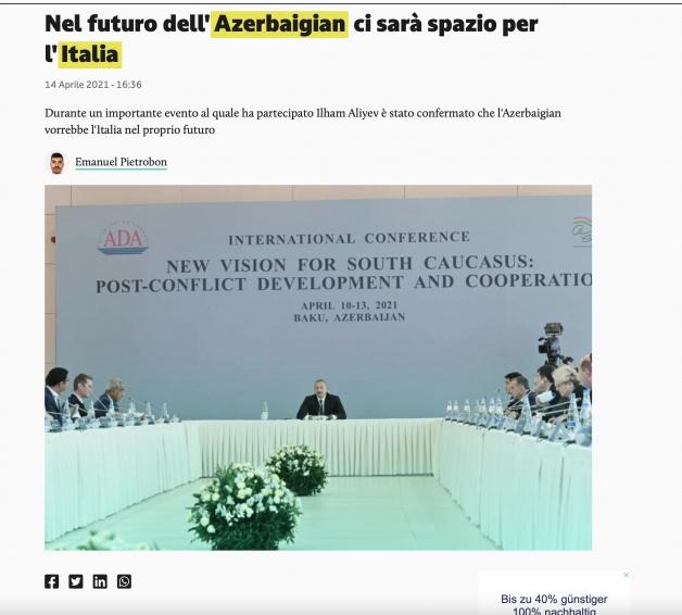 Prezidentin ADA-dakı çıxışı İtaliya mətbuatında