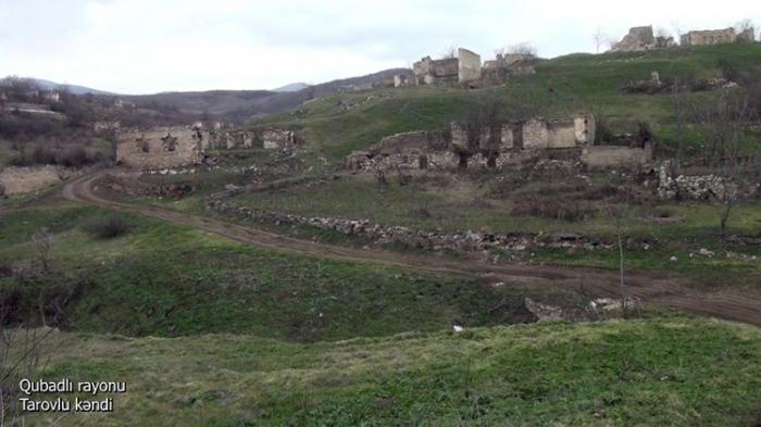 لقطات من قرية تاروفلو في منطقة قوبادلي -   فيديو