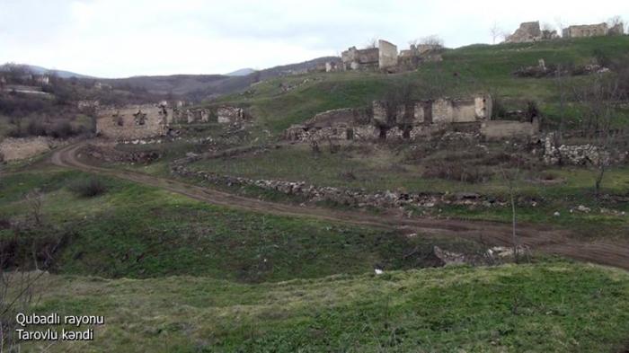 Se publican las imágenes de la aldea de Tarovlu del distrito de Gubadli