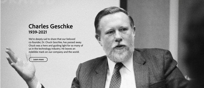 Muere Charles Geschke, cofundador de Adobe y uno de los creadores del formato PDF, a los 81 años
