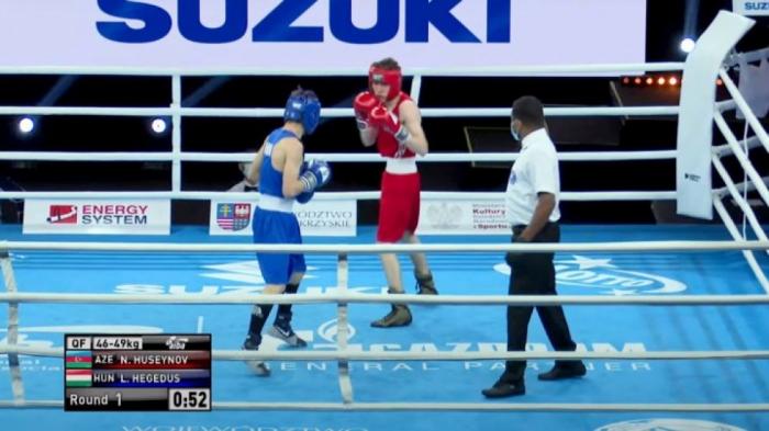 Boxeador azerbaiyano en la semifinal del Campeonato Mundial Juvenil