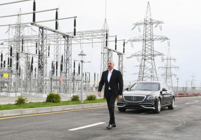 Inauguration des sous-stations électriques «Hovsan» et «Machtagha»en présence du président Ilham Aliyev -  PHOTOS