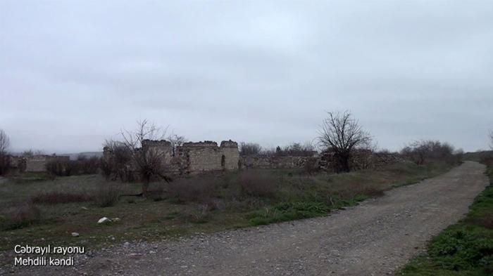 El Ministerio de Defensa emite imágenes de la aldea Mehdili de Jabrayil