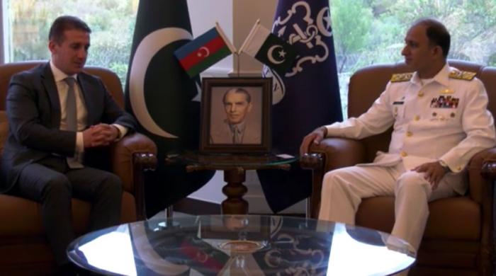 Azerbaijani ambassador meetsChief of Naval Staff of Pakistan