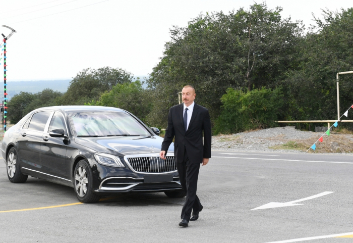 Präsident Ilham Aliyev besucht Hadschigabul