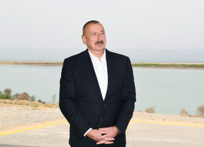 President Ilham Aliyev gives interview to Azerbaijan Television - PHOTOS
