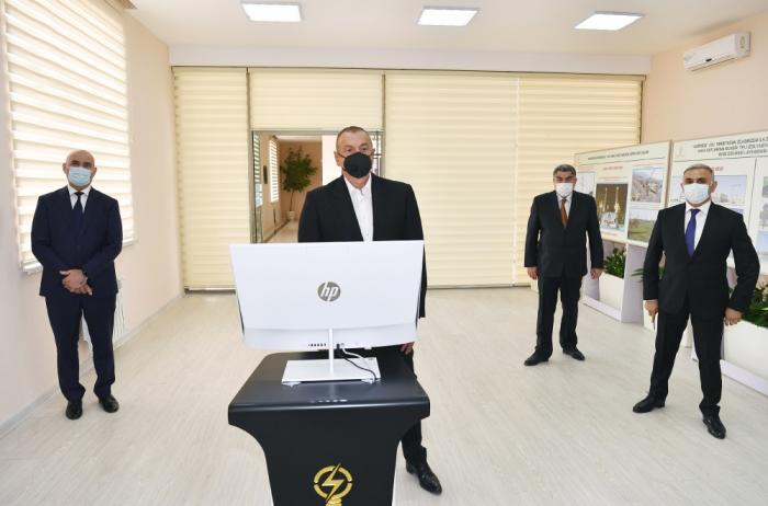 "President Aliyev launches ""Garasu"" substation in Hajiqabul - PHOTOS"