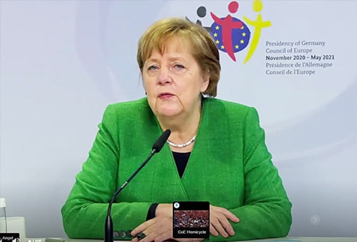 Merkel highlights significance of respecting sovereignty & territorial integrity at PACE spring session
