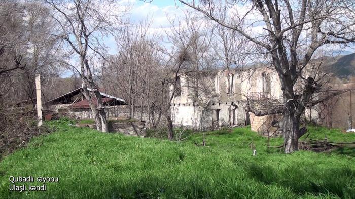 Imágenes   de la aldea de Ulashli del distrito de Gubadli