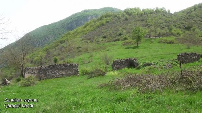 Zəngilanın Qaragöl kəndinin görüntüləri yayıldı -   VİDEO